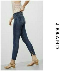 J Brand Spirited Cropped Ankle Zip Skinny Jeans